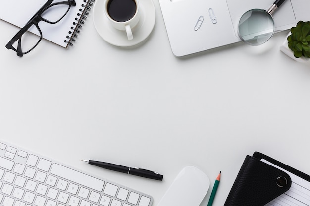 Plat leggen van desktop essentials