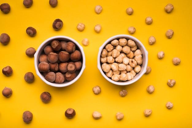 Plat leggen van gemengde noten
