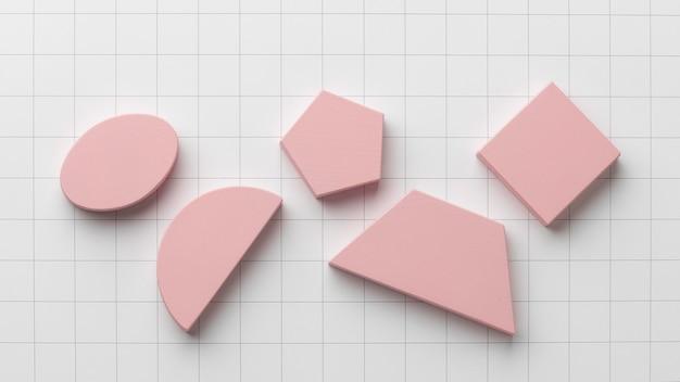 Plat leggen van geometrische vormen