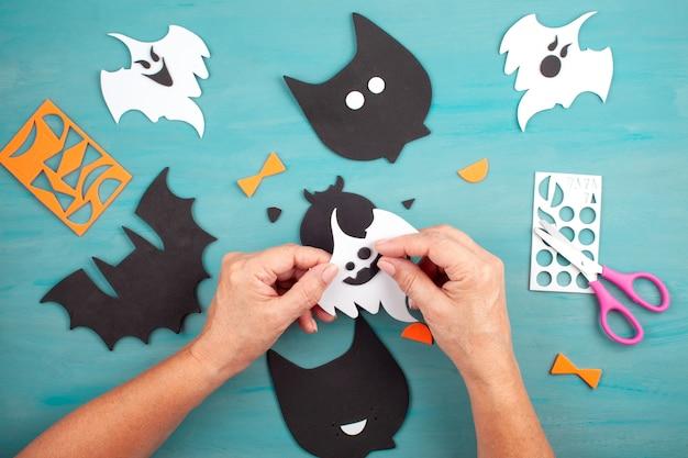 Plat leggen van halloween-decoratie