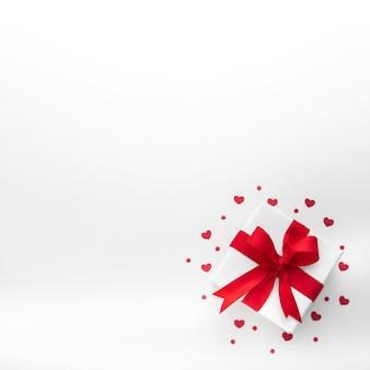Plat leggen van mooie valentijnsdag concept Gratis Foto