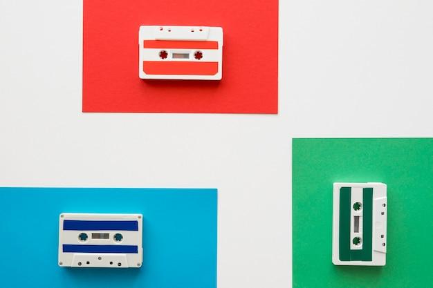 Plat leggen van muziek concept met kopie ruimte