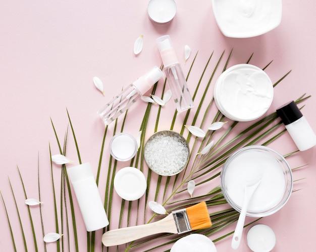 Plat leggen van natuurlijke cosmetica concept