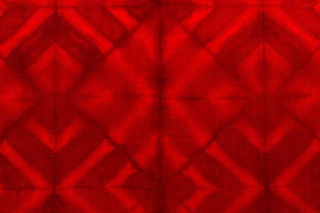 Plat leggen van tie-dye textiel