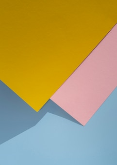 Plat leggen veelhoek papieren ontwerp