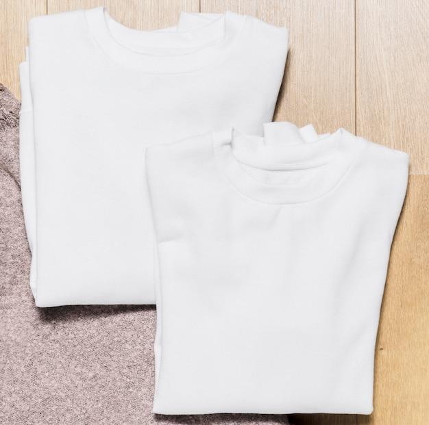 Plat opgezette witte hoodieset