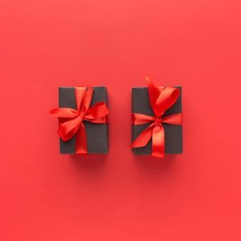 Plat van stijlvolle geschenken