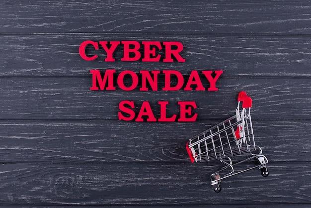 Platliggend cyber maandag assortiment