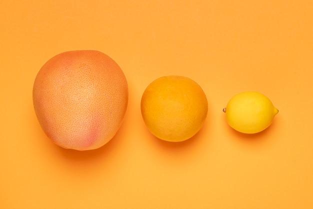 Platliggend fruit groepsarrangement