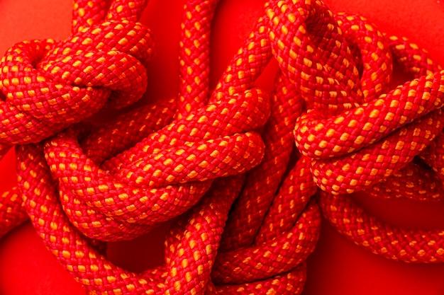 Platliggend touw textuur assortiment close-up