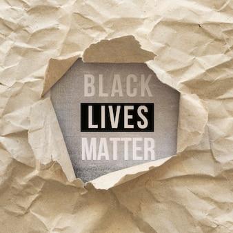 Platliggende zwarte levens zijn belangrijk voor beweging