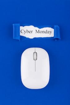 Platte lay cyber maandag compositie