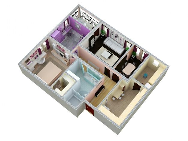 Plattegrond van het appartement of huis.