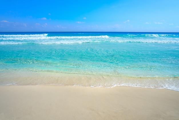 Playa marlin in cancun beach in mexico