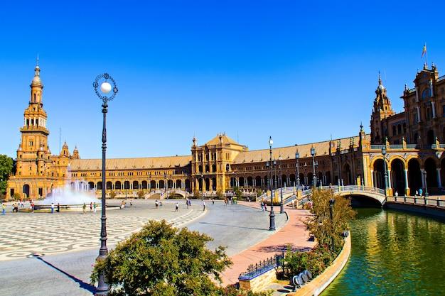 Plaza de españa, sevilla, spanje
