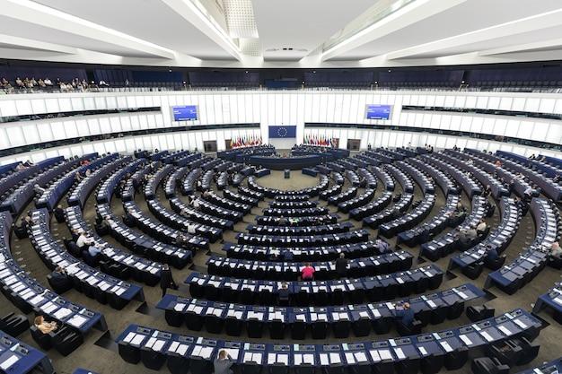 Plenaire zaal van het europees parlement in straatsburg