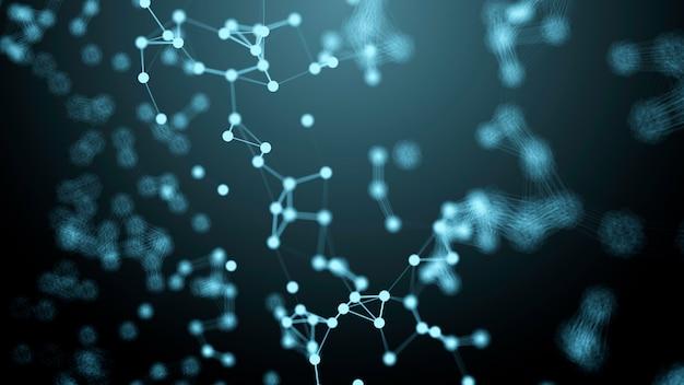 Plexus, abstracte achtergrond met molecuul dna. medische, wetenschaps- en technologieconcepten