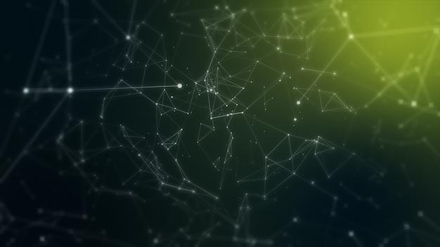 Plexus fantasie abstracte technologie en technische achtergrond met originele organische beweging