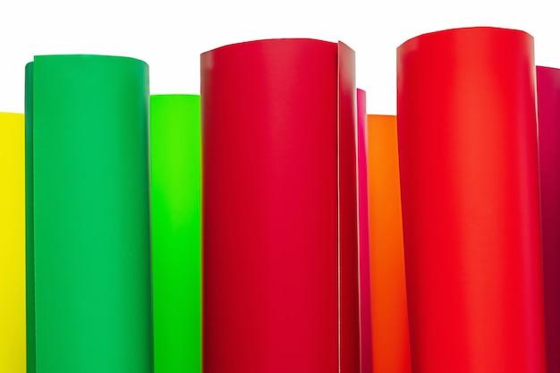 Plotterfilm. zelfklevende gekleurde films. materiaal voor adverteerders.