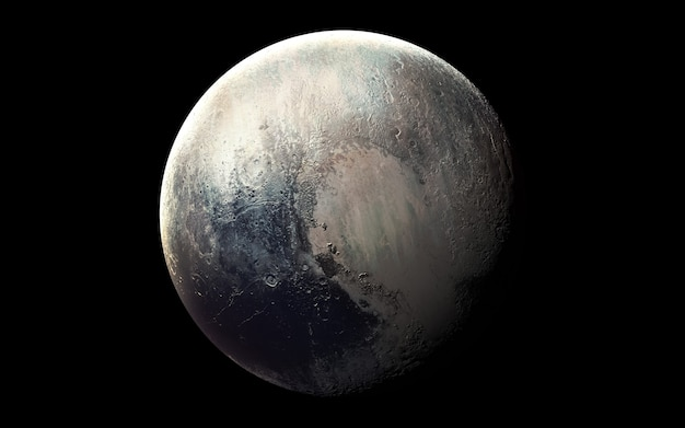 Pluto in de ruimte, 3d illustratie. .