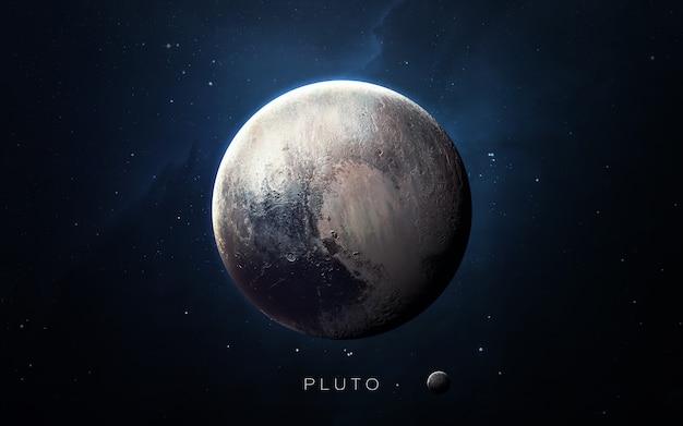 Pluto in de ruimte, 3d illustratie. .
