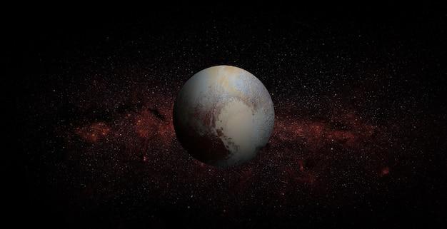 Pluto in de ruimte