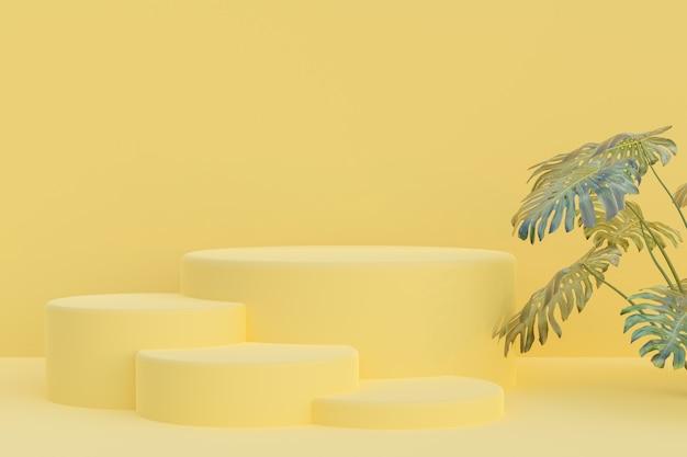 Podium 3d-rendering