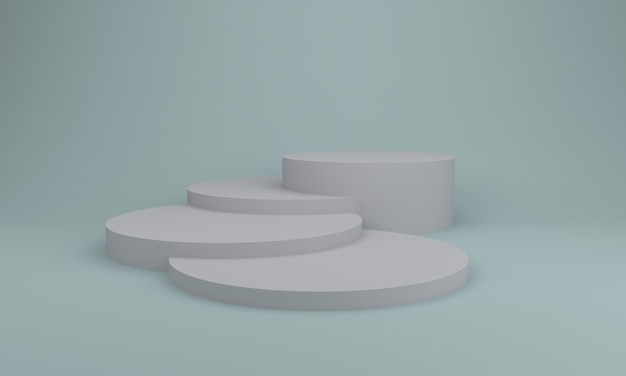 Podium design 3d illustratie design grijs