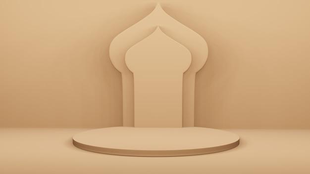 Podium en arabische boog