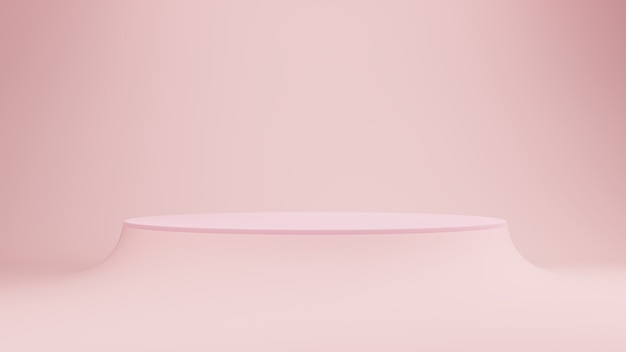 Podium of podium roze pastel achtergrond.