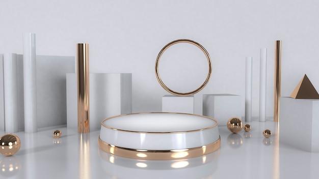 Podium podium goud wit voor sieraden product