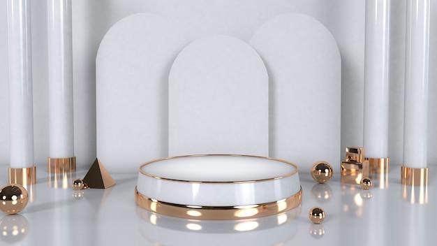 Podium podium voor sieraden goud en wit