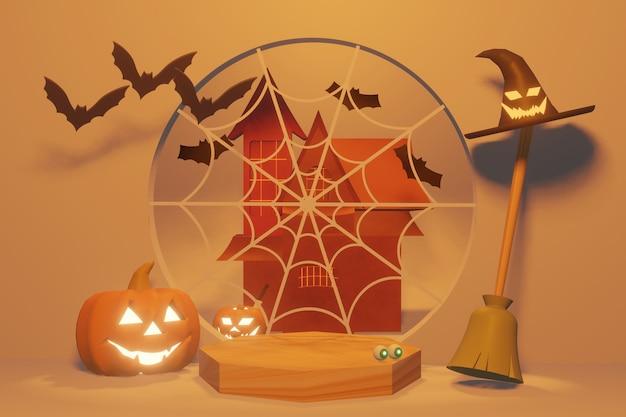 Podium product van halloween festival en herfst