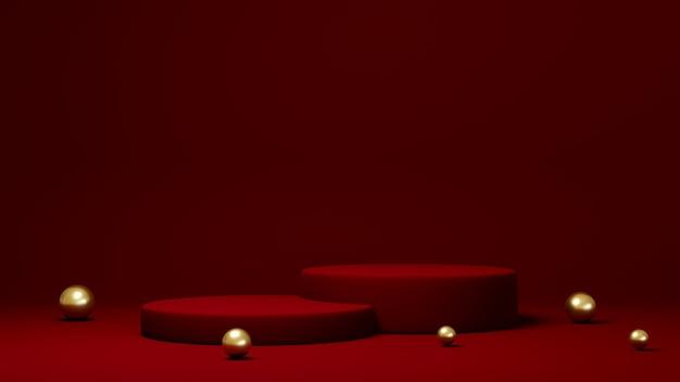 Podium, sokkel of platform, achtergrond voor de presentatie van cosmetische producten