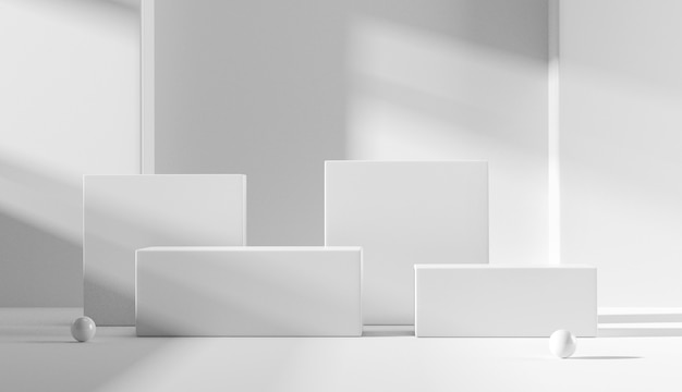 Podiumpodium op witte achtergrond.