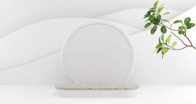 Podiumvertoning met plant