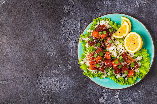 Poke, traditionele hawaiiaanse rauwe vissalade
