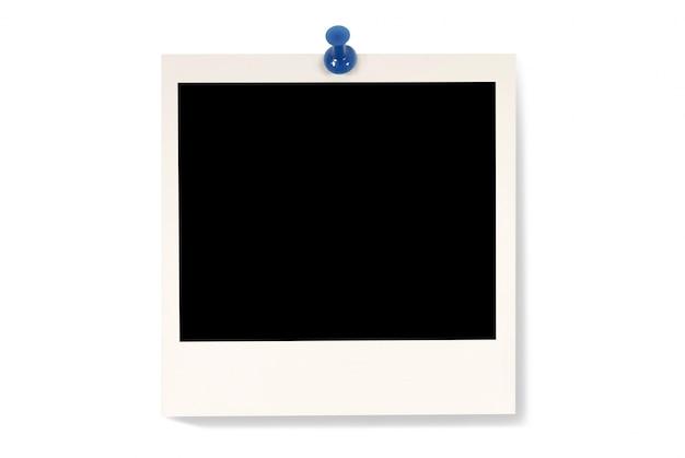 Polaroid foto op een witte achtergrond