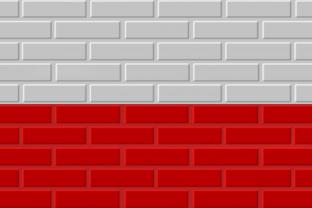 Polen baksteen vlag illustratie