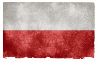 Polen grunge vlag