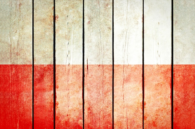Polen houten grunge vlag.