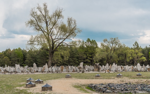 Polen, treblinka, mei 2019 - memorial in vernietigingskamp treblinka