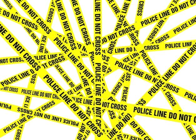 Politielijntape kruist niet