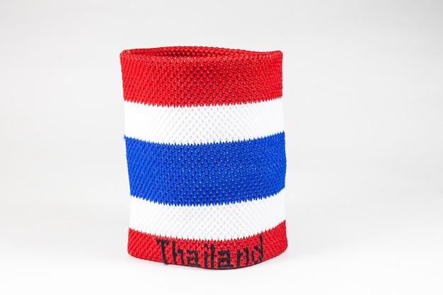 Polsbandjes gestreepte vlag van thailand op witte achtergrond