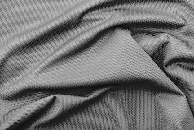 Polyester rimpel zwarte stof textuur