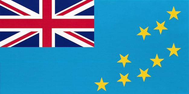 Polynesische eilandland tuvalu nationale vlag