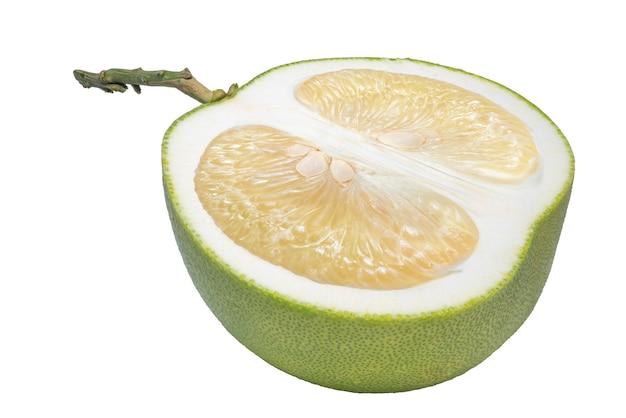 Pomelo fruit op witte achtergrond, (met uitknippad)