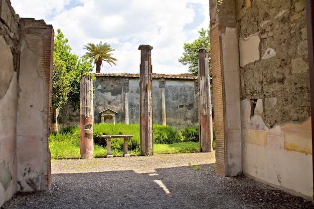 Pompeii, ruïnes van de vulkaanuitbarsting, napels, italië