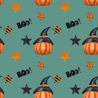 Pompoen halloween naadloze patroon