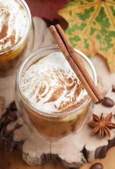 Pompoen latte of smoothies